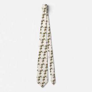 Corbata Navidad del vintage, planta del acebo con las