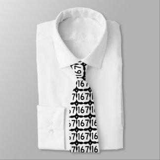 Corbata negra y blanca de Luisiana de la carretera