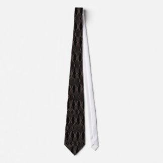 Corbata Negro color de rosa geométrico moderno del modelo