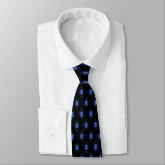 Corbata Negro y azul encajonados - en lazo