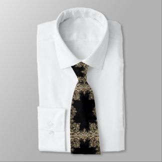 Corbata Negro y oro de Falln afiligranados