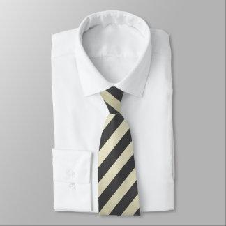 Corbata Negro y oro rayados