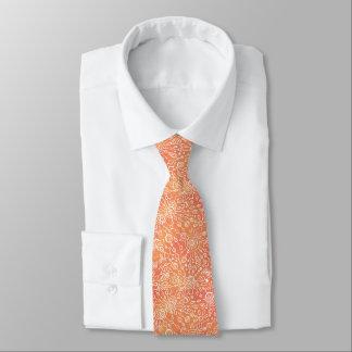 Corbata orange pattern