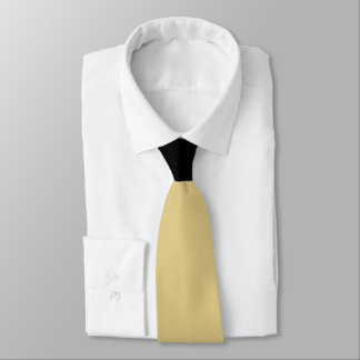 Corbata Oro con contraste del nudo negro