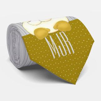 Corbata Oro y plata Santa con monograma