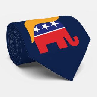 Corbata Pelo del elefante del GOP de presidente Donald