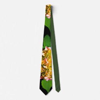 Corbata Peony verde y rosado