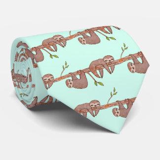 Corbata Perezas del bebé que cuelgan en modelo del árbol