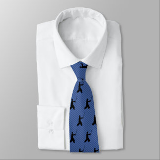 Corbata Personalizada Aikido - postura de Bokken - raya del adorno de