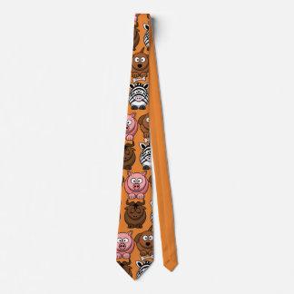 Corbata Personalizada Animales lindos del niño del personalizar para el