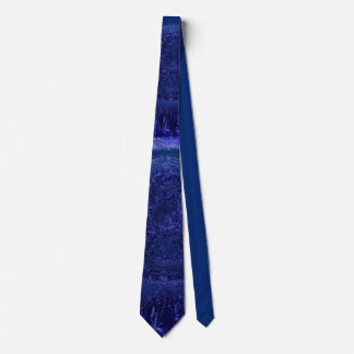 Corbata Personalizada Azul en lazo azul del diseño de la cruz céltica