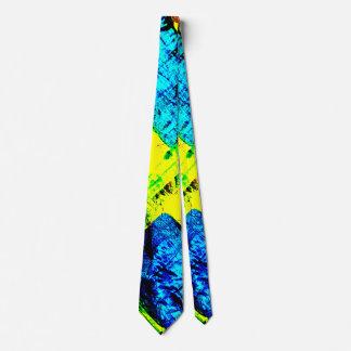 Corbata Personalizada Azul y amarillo abstractos