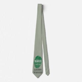Corbata Personalizada Bandera de la huella dactilar del tacto del saudí