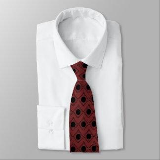 Corbata Personalizada Borgoña y negro encajonados - en lazo