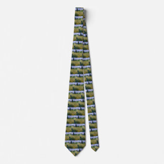 Corbata Personalizada Campo de trigo verde de Van Gogh con Cypress,