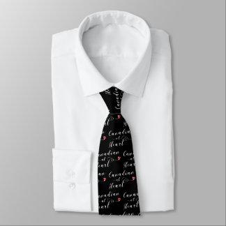 Corbata Personalizada Canadiense en el lazo del corazón, Canadá