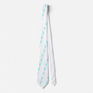 Corbata Personalizada Cinta de la conciencia (azul clara)