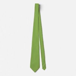 Corbata Personalizada Color verde ubicuo de Plushly