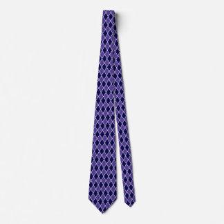 Corbata Personalizada Colores azules púrpuras del diseño del diamante