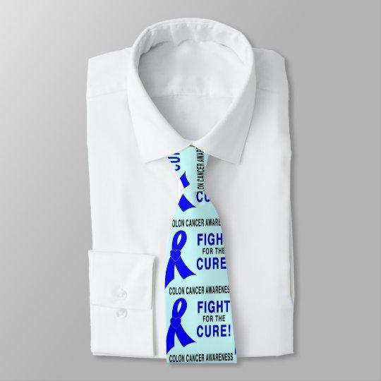 Corbata Personalizada Conciencia del cáncer de colon: ¡Lucha para la