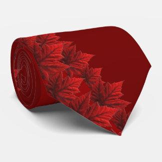 Corbata Personalizada Corbatas rojas de Canadá de la hoja de arce del