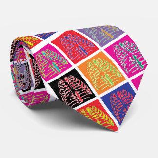 Corbata Personalizada Costillas del arte pop