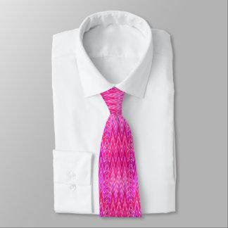 Corbata Personalizada Damasco étnico de Chevron, púrpura y rosa del