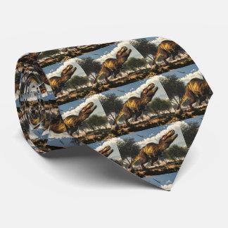 Corbata Personalizada Dinosaurio del rex del Tyrannosaurus que protege