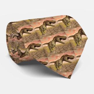 Corbata Personalizada Dinosaurio del rex del Tyrannosaurus que ruge
