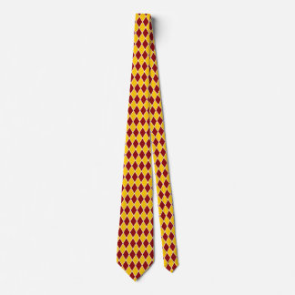 Corbata Personalizada El diamante del Harlequin ata el oro Borgoña