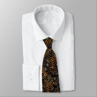Corbata Personalizada El peine asombroso de la miel con manosea la