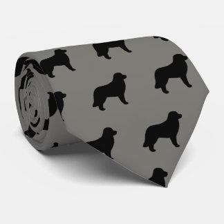 Corbata Personalizada El perro de Leonberger siluetea el modelo