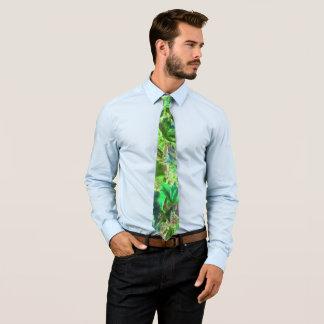 Corbata Personalizada El verde deja el modelo abstracto
