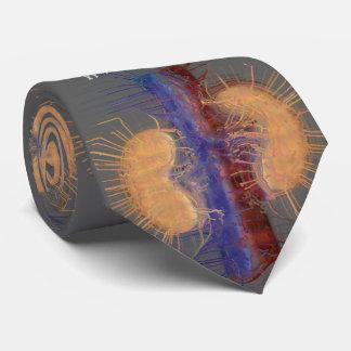 Corbata Personalizada Gris artsy único del diseño del riñón del lazo del