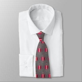 Corbata Personalizada Gris y rojo encajonados - en lazo