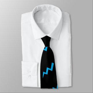Corbata Personalizada Huelga azul del aligeramiento del lazo del