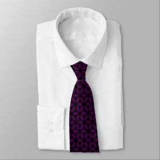 Corbata Personalizada Impresión floral profunda de la púrpura real con