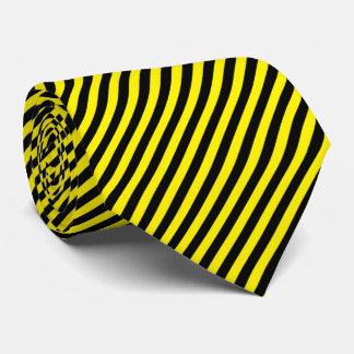 Corbata Personalizada La raya del Pin negra y amarillea color de fondo