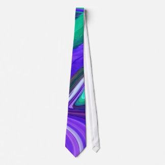 Corbata Personalizada Lazo abstracto de los remolinos del trullo de la