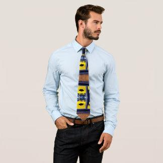 Corbata Personalizada Lazo amarillo con la polilla negra