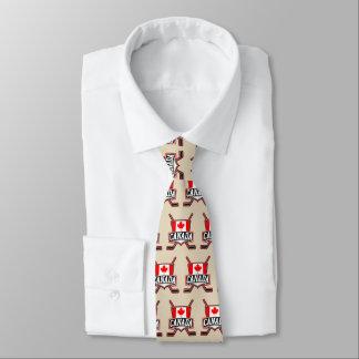 Corbata Personalizada Lazo canadiense del hockey de la bandera