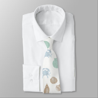 Corbata Personalizada Lazo costero del modelo de los Seashells