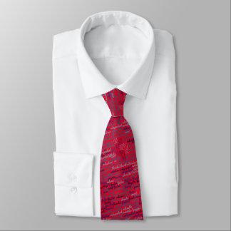 Corbata Personalizada Lazo de FSPR - rojo