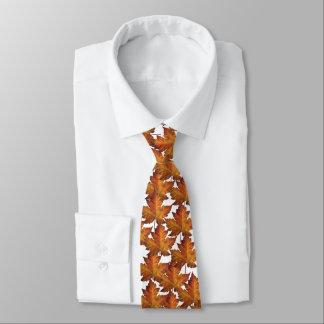 Corbata Personalizada Lazo de la hoja de arce de Canadá del oro de la