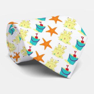 Corbata Personalizada Lazo de la playa de las estrellas de mar de la
