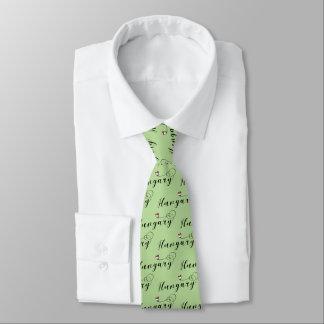 Corbata Personalizada Lazo del corazón de Hungría, húngaro