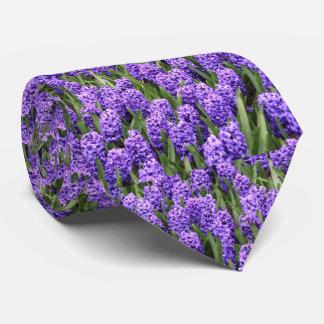 Corbata Personalizada Lazo púrpura floral de las flores de la primavera