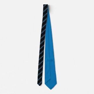 Corbata Personalizada Lazo rayado del negro, azul y blanco de CATENCODE