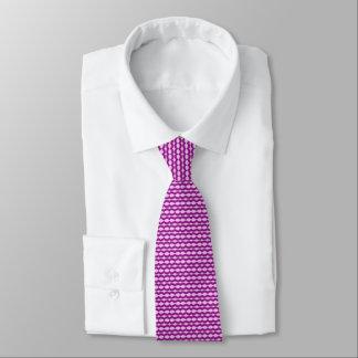 Corbata Personalizada Lazo rosado con la onda púrpura