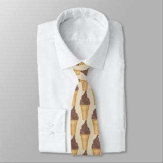 Corbata Personalizada Lazo tejado de la tienda de helado de chocolate de